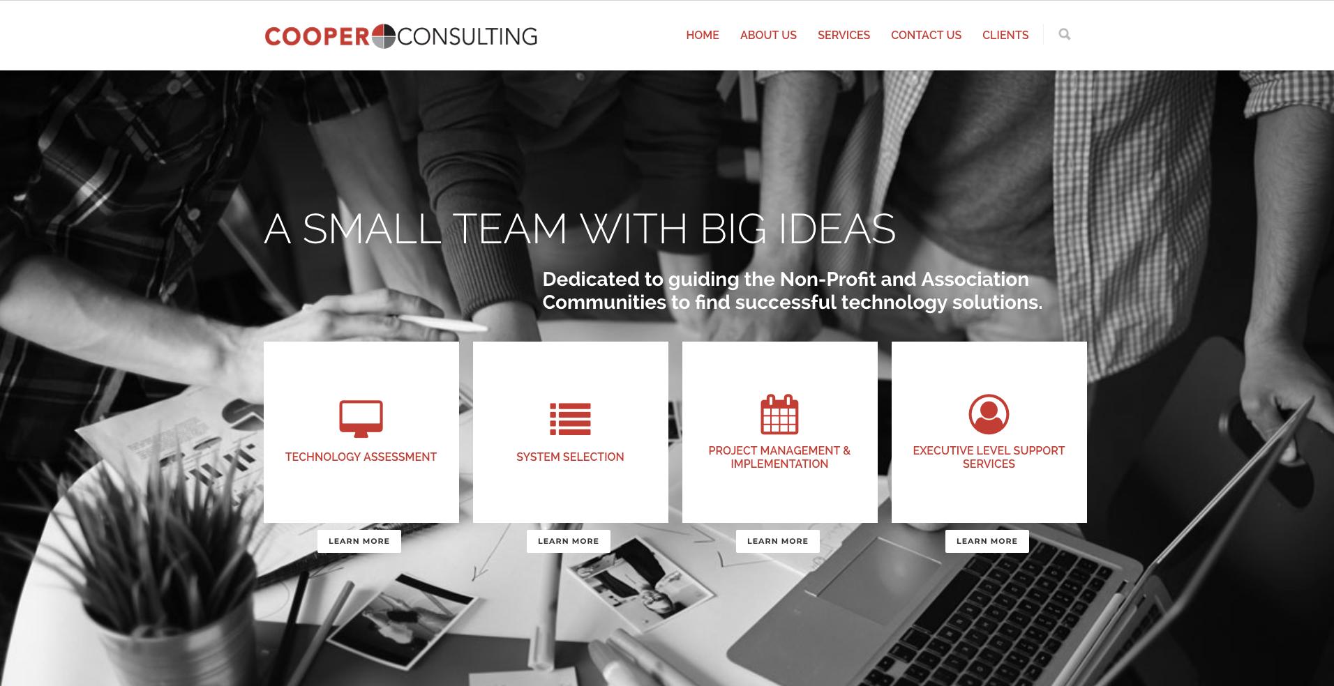 Cooper Consulting Website designed by Big Rock Studio